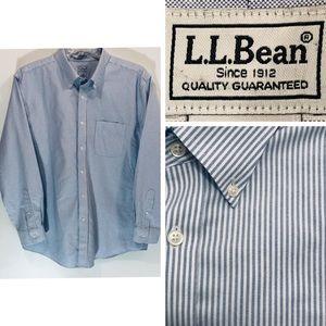 "LL Bean Shirt Wrinkle Resistant 17"" - 34"" EUC"